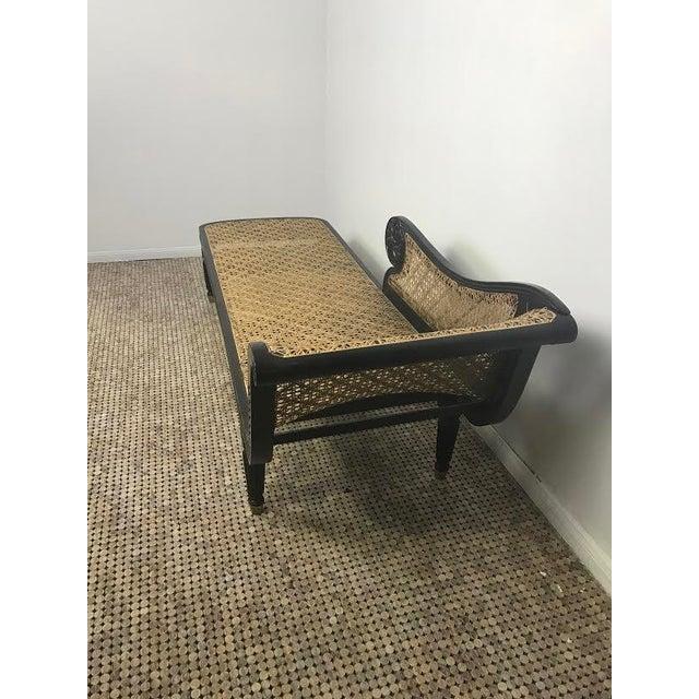 Vintage Wicker & Oiled Teak Fainting Lounge - Image 4 of 6