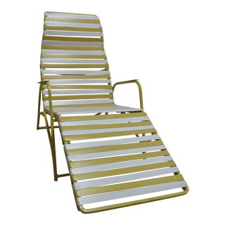 1970s Vintage Mid Century Patio Chaise Lounge Chair For Sale