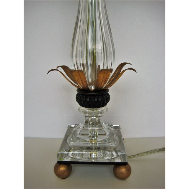 Schonbek Pirouette Swarovski Crystal Table Lamp For Sale - Image 4 of 8