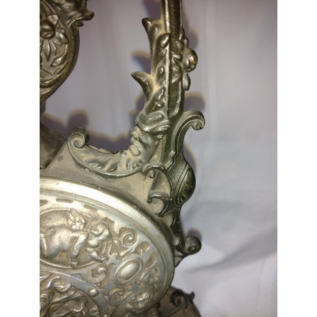1910 Funeral Ewer Tall European Gothic Pewter Twist Off Case For Sale - Image 10 of 13
