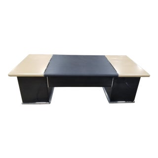1980s Mid-Century Modern Nienkamper Executive Desk For Sale