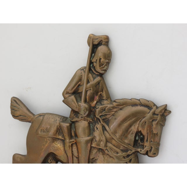 Boho Chic Brass Knight Fireplace Ornament For Sale - Image 3 of 6