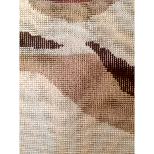 Danish Modern Wool Rya Hand Knotted Textile - Image 7 of 7