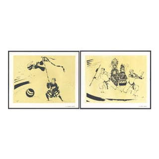 1944 'Circus: # 27 & 33' Lithographs - A Pair For Sale