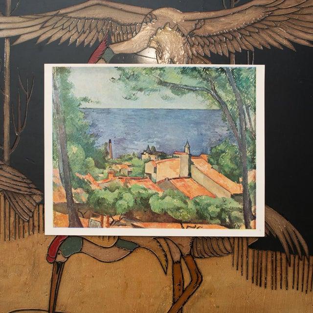 Impressionism 1940s Cezanne Seascape at l'Estaque Swiss Plate For Sale - Image 3 of 6