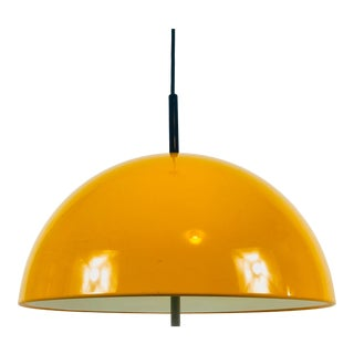 1970s Orange Pendant Lamp by Staff, Germany For Sale