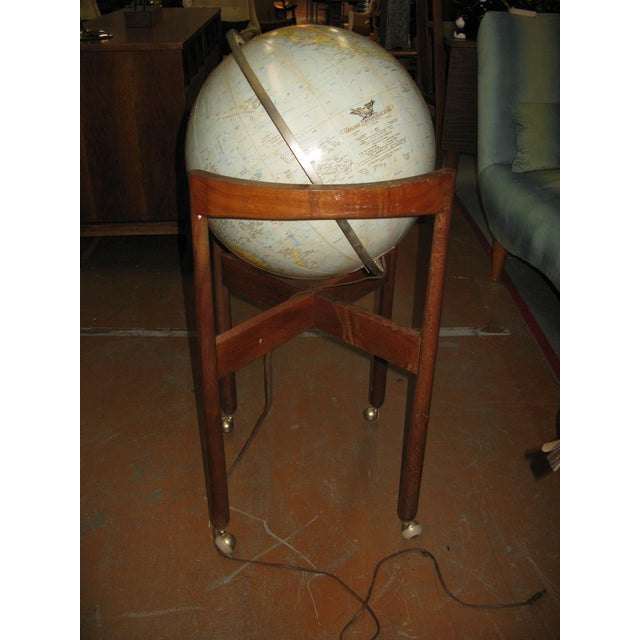 Jens Risom Sculptural Walnut Globe on Casters For Sale - Image 5 of 11
