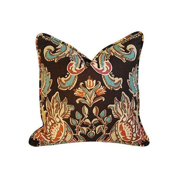Designer Kravet Lutron Espresso Pillows - A Pair - Image 4 of 6