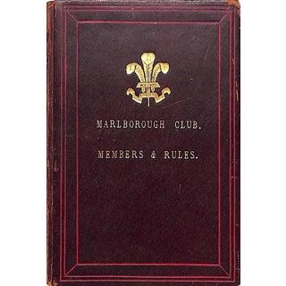 Marlborough Club Members & Rules For Sale