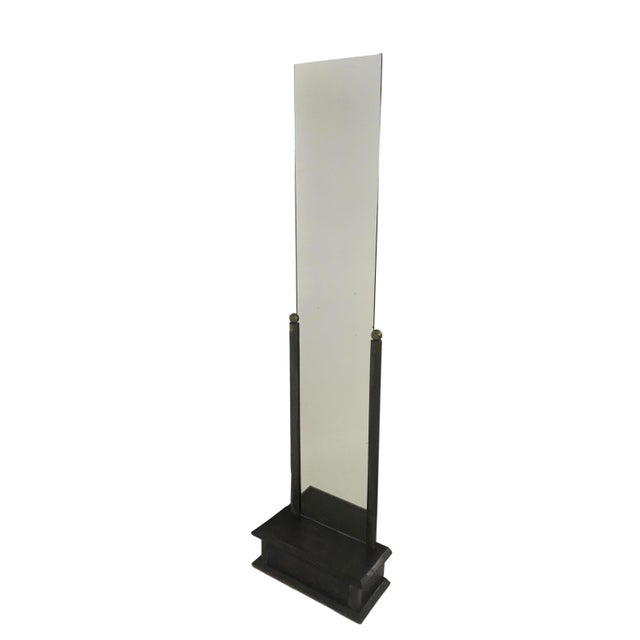 1930s French Art Deco Full Length Mirror For Sale - Image 5 of 6