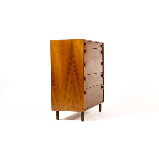1960s Mid Century Modern Meredew Teak Upright Dresser For Sale - Image 9 of 9