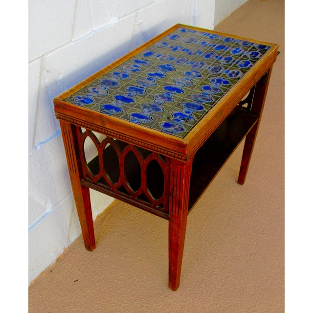 Moroccan Tile Side End Coffee Table
