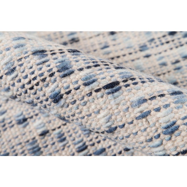 """Erin Gates Dartmouth Bartlett Blue Hand Made Wool Area Rug 3'9"""" X 5'9"""" For Sale - Image 4 of 8"""