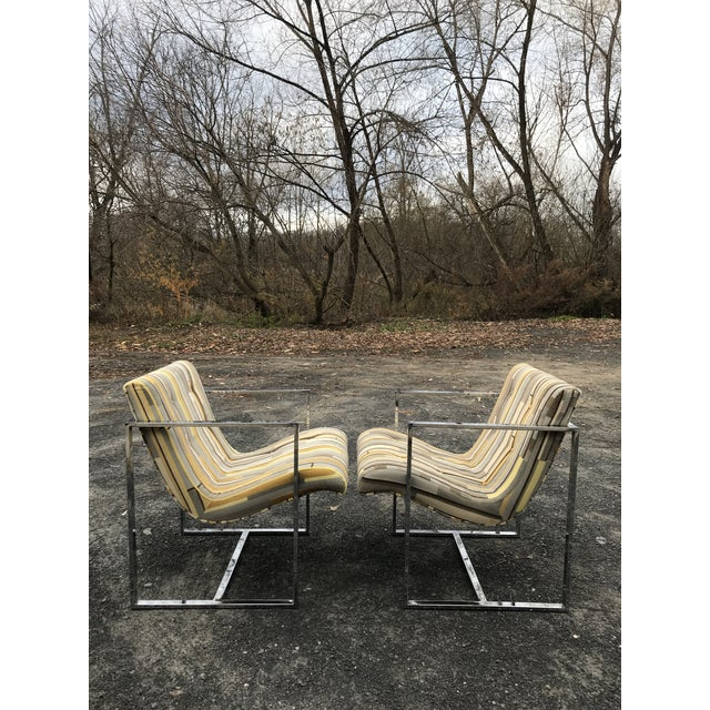 Fantastic Scoop Chairs New Textural Cotton Velvet Silver-Craft For Sale - Image 13 of 13