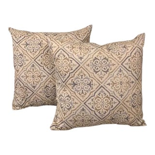 Restoration Hardware Indoor/Outdoor Pillows - A Pair