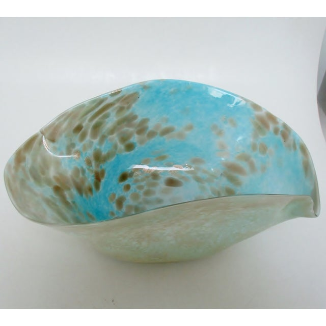 Glass Murano Baby Blue Console Bowl For Sale - Image 7 of 7