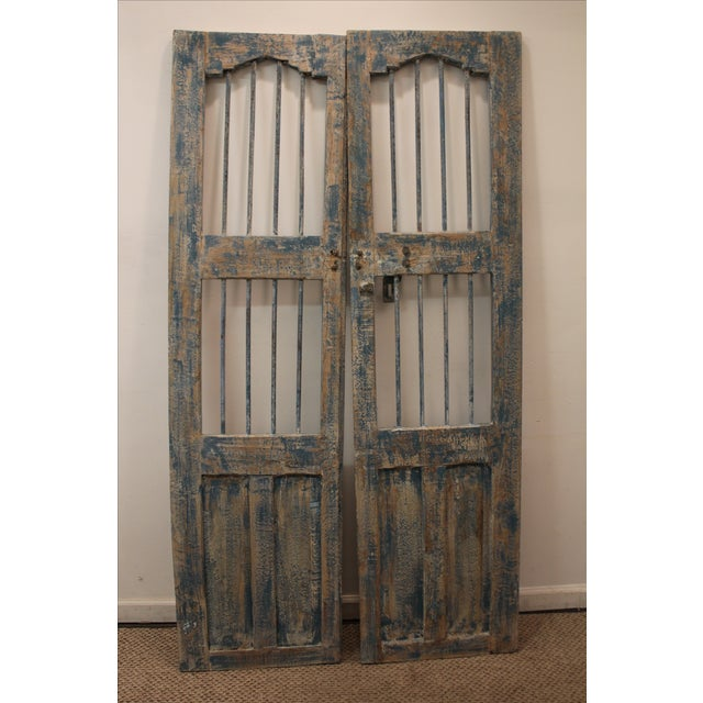 Reclaimed Architectural Wrought Iron Doors - A Pair - Image 9 of 11