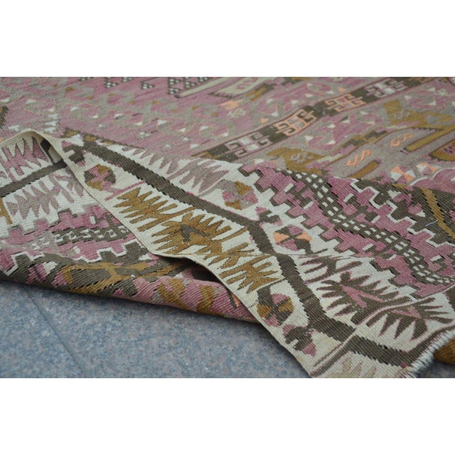 Oversize Turkish Antique Handwoven Kilim - 6′1″ × 12′9″ For Sale - Image 5 of 6