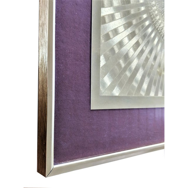 1960s Vintage Op Art Print For Sale In Miami - Image 6 of 10