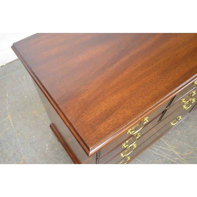 Henkel Harris Solid Mahogany Chippendale Style Dresser - Image 8 of 11