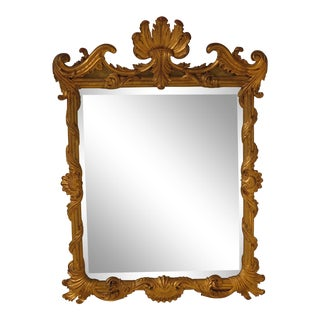Labarge Rococo Gold Painted Frame Mirror For Sale