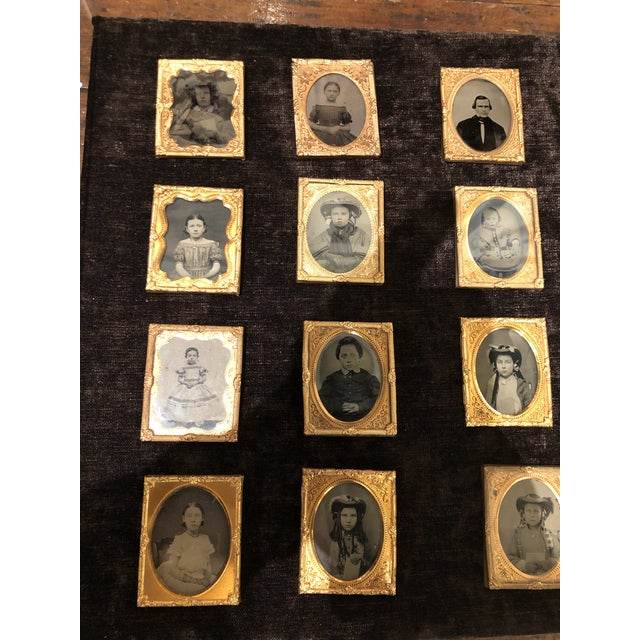 Late 19th Century Collection of School Children and Teacher Portraits Circa 1870 in Acrylic Case - Set of 20 For Sale - Image 5 of 13