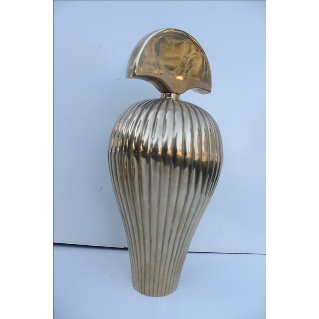Gabriella Crespi Style Brass Perfume Bottles - S/3 For Sale - Image 5 of 10