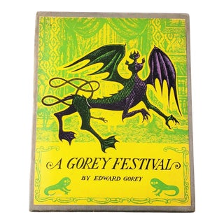 "1968 ""A Gorey Festival"" by Edward Gorey - 4 Paperbacks in Illustrated Slipcase For Sale"