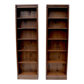 Bennington Pine Bookcases / Cabinetry, Pair For Sale