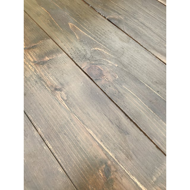 Gray Rustic Dove Gray Wood Square Farm Table For Sale - Image 8 of 11
