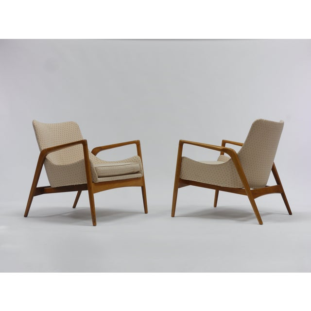 Brown Pair of Lounge Chairs by Ib Kofod Larsen For Sale - Image 8 of 11