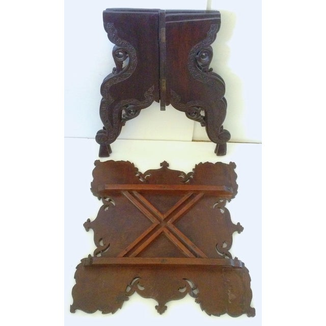 Anglo-Indian Square Shaped Carved Walnut Table For Sale - Image 4 of 4