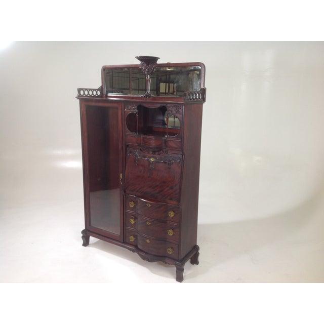 Antique Mahogany Victorian Curio/Desk - Image 8 of 9