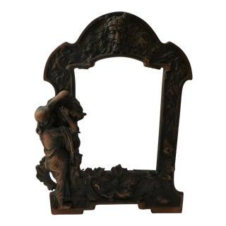 Art Nouveau Copper Picture Frame Reproduction For Sale
