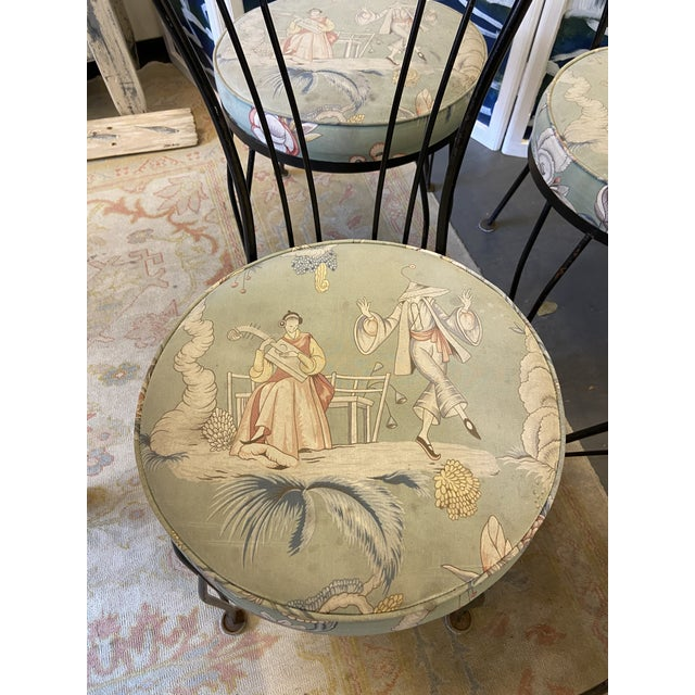 1950s Vintage Garden Chairs - Set of 4 For Sale - Image 4 of 7