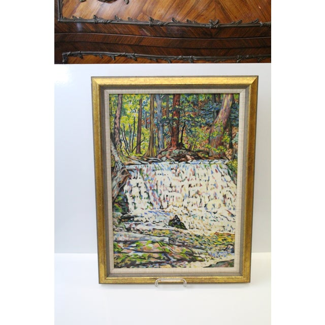 Vintage Mid-Century Ede Else Buttermilk Falls Painting For Sale In New York - Image 6 of 7