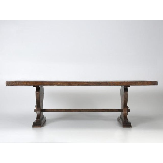 French Oak Trestle Dining Table For Sale - Image 12 of 13