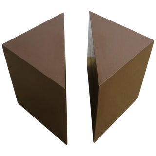 Modern Geometric Square Side Table or Two-Part Drinks Table For Sale