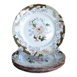 Antique Ashworth Brothers Hanley English Dinner Plates - Set of 5 For Sale