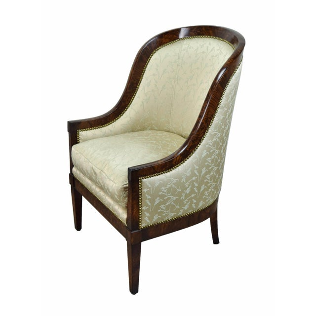 White Biedermeier William Switzer Classic Occasional Chair For Sale - Image 8 of 8