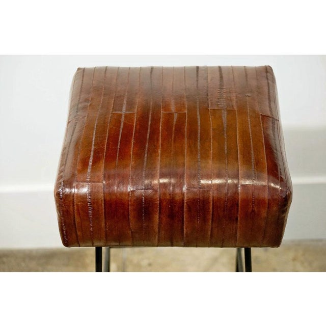 1970s Frederick Weinberg Eel Skin Stools - a Pair For Sale In Los Angeles - Image 6 of 8