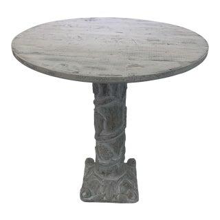 Antique Grapevine Design Column Table For Sale