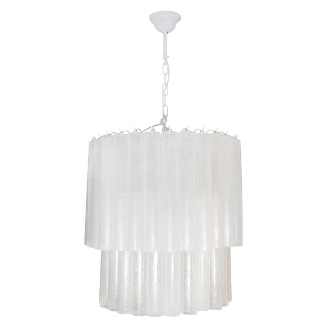 Murano Tubu Ceiling Lights - A Pair For Sale
