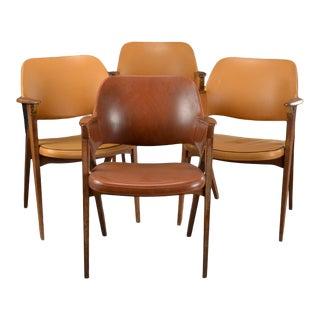 Vintage Mid Century Teak Armchairs- Set of 4 For Sale