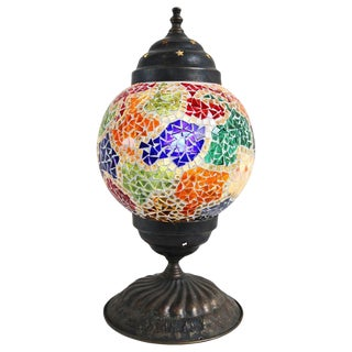 Vintage Mosaic Table Lamp For Sale
