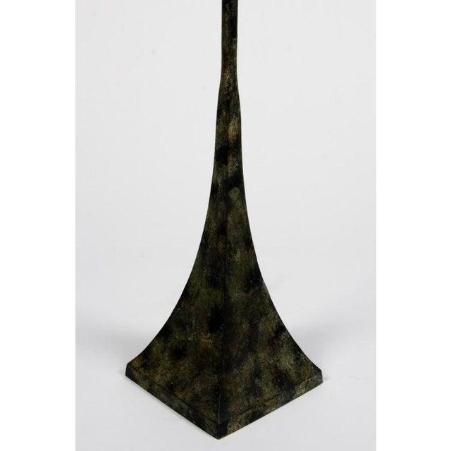 Metal Hansen Verdigris Patinated Floor Lamps - a Pair For Sale - Image 7 of 9