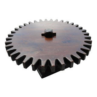 1970's Ethan Allen Cog Wheel Coffee Table