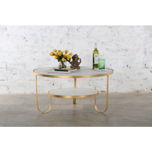 Contemporary Erdos + Ko Iron and Marble Rani II Coffee Table For Sale In Dallas - Image 6 of 7
