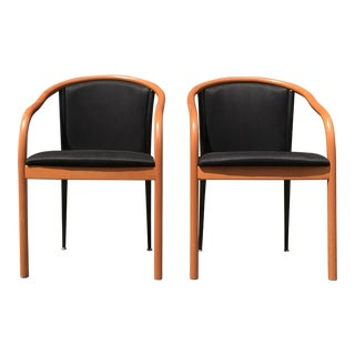 Mid Century Style Occasional Chairs Modeled After Ward Bennett- A Pair For Sale