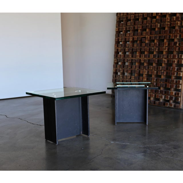 Gerald McCabe I Beam Side Tables Circa 1965 - a Pair For Sale In Los Angeles - Image 6 of 13